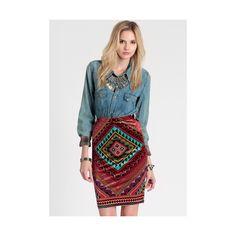 Velvet Dreams Skirt ($40) ❤ liked on Polyvore