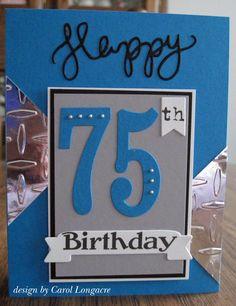 Masculine 75th Birthday Card