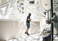 Although theory is an important part of students' undergraduate education, practical practice is also vital. Students in Sydney were able to fabricate and const Canopy, Veil, Students, Coding, Construction, Organization, Urban, Bridal, Future