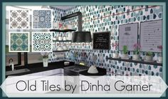 Old tiles at Dinha Gamer via Sims 4 Updates
