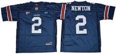 Auburn Tigers Jersey - #2 Cam Newton Blue Jersey