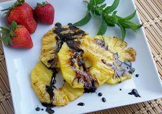 PALEO GRILLED BALSAMIC PINEAPPLE RECIPE   Paleo recipe