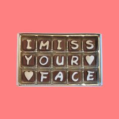 I Miss Your Face Cubic Chocolate Letters Long Distance Love Valentines Gift for Men Him Her Women Made to Order on Etsy, $25.99