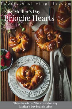 This is a cute way to say thank you to your mom and surprise her for breakfast with something homemade for Mother's Day. #Briochedough #breakfastrecipes #sweetbread #Mothersdayrecipes #breadrecipe #briocherecipe #mothersdaygift #muttertagsgeschenk Homemade Brioche, Brioche Recipe, Brunch Recipes, Breakfast Recipes, Dessert Recipes, Real Food Recipes, Sweet Recipes, Yummy Food, Spring Recipes