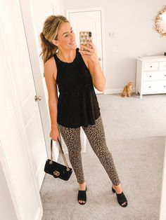 how to style leopard jeans, three ways! Animal Print Tights, Denim Fashion, Fashion Tips, Fashion Bloggers, Leopard Pants, J Crew Style, Cool Graphic Tees, Models Off Duty, Southern Marsh