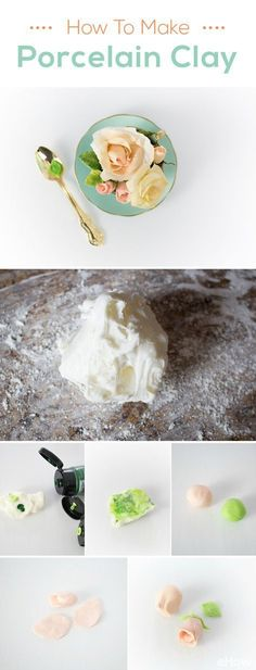 This air drying clay is referred to as cold porcelain because it dries to resemble real porcelain. But unlike polymer clay, it's non-toxic and does not need to be cooked or cured. Clay tutorial    diy cold porcelain   