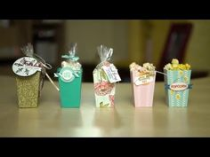 Popcorn Box Thinlits Dies by Stampin' Up! - YouTube