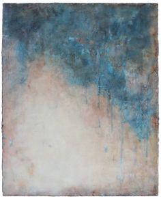 Kari Hall, The Waves Upon Us, Encaustic mixed media, 20 x 16 inches, 2015