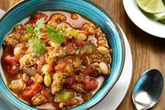 Easy Turkey Chili | Make it in the slow cooker for the perfect weeknight meal!