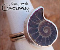 Jewelry #Giveaway! Enter to win adjustable ammonite ring by Rica Jewels by 11:59pm EST on March 25, 2014.