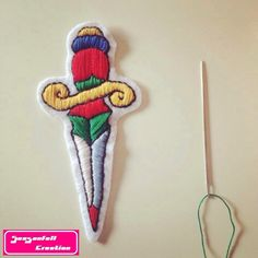 Le chouchou de ma boutique https://www.etsy.com/fr/listing/487242180/patch-dague #daggertattoo #dagger #tats #tatted #tattoos #tatuaje #tattooed #tattooart #tattoolife #traditionaltattoo #oldstyle #oldschooltattoo #embroidery #etsyseller #inkstagram #instacraft #patch #parches #picoftheday #sewed #diypatch #design #feltcraft #handembroidery #knifetattoo #crafty #classictattoos #bordeaux #broderie #tatouage