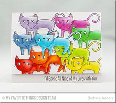 Purr-fect Friends Stamp Set - Barbara Anders  #mftstamps