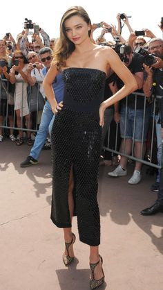 Cannes Film Festival 2015: All of the Best Red Carpet Dresses - Miranda Kerr in David Koma   StyleCaster