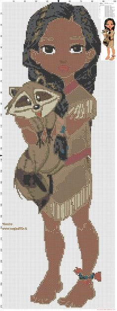 Baby Pocahontas cross stitch pattern