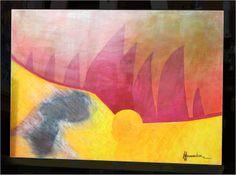 Yellow One-PINTURA FERNANDINI-Tinta sobre madera (70cmx49cm)- PRECIO: 400 Dólares | Venta de Pinturas al óleo y acuarela de Patty Fernandini...