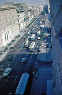 Athens Stadiou Street in the early 60's