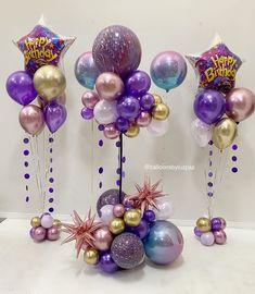 Mermaid Party Decorations, Birthday Balloon Decorations, Birthday Balloons, Baby Shower Balloons, Birthday Parties, Balloon Columns, Balloon Garland, Balloon Arch, Balloon Arrangements