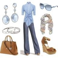 my favorite blue mixed with camel and denim