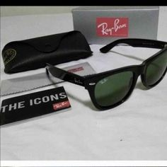 Brand New Ray- Ban Wayfarers 2140 UNISEX Brand new in box. Comes with case and cloth. Color Deep Black Ray-Ban Accessories Sunglasses