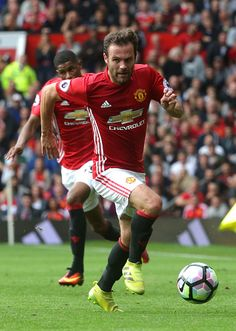 Juan Mata of Manchester United in action during the Premier League match between Manchester United and Leicester City at Old Trafford on September Premier League Teams, Premier League Champions, Premier League Matches, Real Madrid, Man Utd Squad, Soccer Skills, Soccer Tips, Barcelona, Manchester United Football