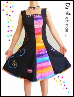 Du fil et mon...: Ma première robe Boho Dress, Dress Up, Funky Outfits, Mode Boho, Baby Sewing, Dressmaking, African Fashion, Beautiful Outfits, Boho Fashion