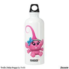 Trolls | Baby Poppy. Regalos, Gifts. Producto disponible en tienda Zazzle. Product available in Zazzle store. Feliz. Happy. Link to product: http://www.zazzle.com/trolls_baby_poppy_aluminum_water_bottle-256781288704299606?CMPN=shareicon&lang=en&social=true&rf=238167879144476949 #bottle #botella #trolls