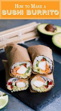 How to Make a Sushirrito Sushi Burrito Copycat Recipe with Video Tutorial. Sushi + Burrito = HEAVEN!