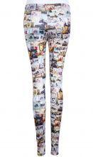 Multi Skinny Pictures Print Leggings $20.16 #SheInside