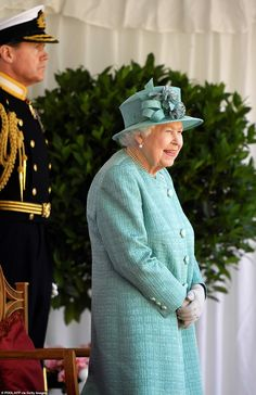 While the Queen had front row seats, the event took place entirely within the confines of ... Duke And Duchess, Duchess Of Cambridge, Buckingham Palace Garden Party, Queen's Official Birthday, Autumn Phillips, Horse Guards Parade, Elisabeth Ii, Queen Birthday, Royal Engagement