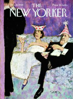 December 1966 New Yorker cover illo by Charles Saxon New Yorker Covers, The New Yorker, All Poster, Poster Prints, Art Prints, New Year's Eve Hats, Rowing Blazers, Tag Image, Everything And Nothing