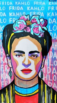 'Frida Kahlo Paint Art' T-Shirt by NormanMarch Frida E Diego, Frida Art, Diego Rivera, Cuadros Pop Art, Old Posters, Kahlo Paintings, Frida Kahlo Portraits, Mexico Art, Held