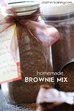 Homemade Brownie Mix from chef-in-training.com ...This is SUCH A GREAT recipe to have on hand. It stores for 10-12 weeks in an airtight cont...