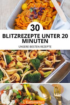 lightning Blitzrezepte 30 flash recipes under 20 minutes. Faster, faster, done! Whether pan dish, with rice or pasta – these recipes are ready quickly eatsmarter. Lunch Recipes, Healthy Dinner Recipes, Pasta Recipes, Healthy Snacks, Chicken Recipes, Sandwich Recipes, Vegetarian Lunch, Vegetarian Recipes, Mothers Day Dinner