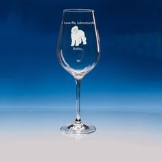 Labradoodle Dog Lover Gift Engraved Personalised Fine Quality Wine Glass - Add Your Message - Birthday Gift, Valentine Gift, Christmas Gift