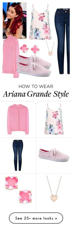 """Cat Valentine (Victorious) Inspired Outfit"" by desiremeb on Polyvore featuring Kate Spade, Dorothy Perkins, Miu Miu, Keds, Ginette NY, 2LUV, ArianaGrande, Victorious, CatValentine and SamAndCat"