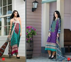 Latest Deeba Premium Lawn Dresses Collection 2015 By Shariq Textiles