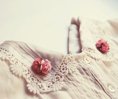 pink floral collar tips.