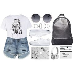 How To Wear Wolf Tee Outfit Idea 2017 - Fashion Trends Ready To Wear For Plus Size, Curvy Women Over 20, 30, 40, 50