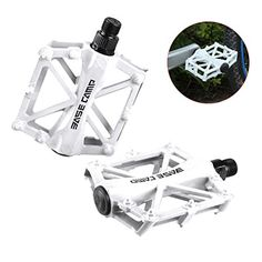 Superdream Aluminum Alloy Bike Pedals Light Stable Robust Fashionable Safe Flat Platform for Road Mountain Bike Cycling Race Bicycle MTB White 1 pair >>> Check out this great product. Bicycle Pedals, Mtb Bicycle, Road Mountain Bike, Cycle Ride, Aluminium Alloy, Cycling, Note, Flat, Amazon