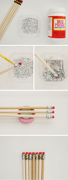 glitter pencils. These would be great for back to school and to put in the Samaritan Purse OCC shoeboxes