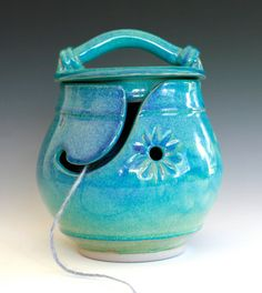 KittyProof Yarn Bowl handmade ceramic yarn bowl In by ocpottery, $60.00