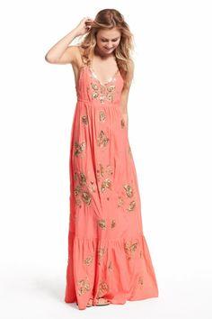 Enjoy an additional 50% off newly added sale styles. Embellished silk maxi dress.