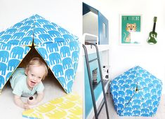 All for the Boys -diy fort from foam and fabric