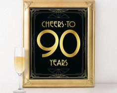 Great Gatsby birthday party decorations  Happy by GoldMoonParty