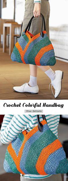 Crochet Colorful Handbag