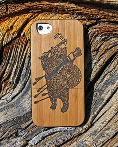 Limited Edition Battle Bear iPhone Case & T-Shirt from  Olan Rogers - Bamboo & Paper iPhone case by Twig Case Co.