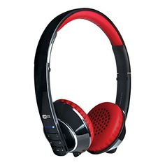 MEE audio Runaway 40 Bluetooth Stereo Wireless  Wired Headphones with Microphone BlackRed ** You can find out more details at the link of the image.