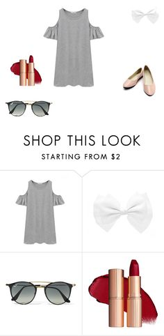 """Cutie"" by grace-dxvii on Polyvore featuring Chicnova Fashion and Ray-Ban"