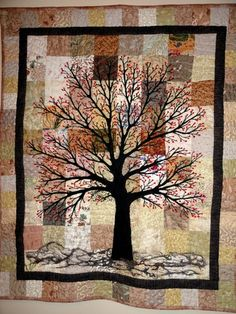 Tree quilt - no pattern or link to any site - but gorgeous!!!!  Use for inspiration
