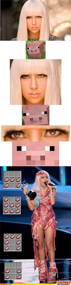 koma comic strip gaga loves the minecraft